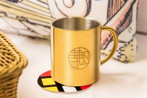 天成文旅-華山町 貯藏華山1950 不銹鋼金色馬克杯