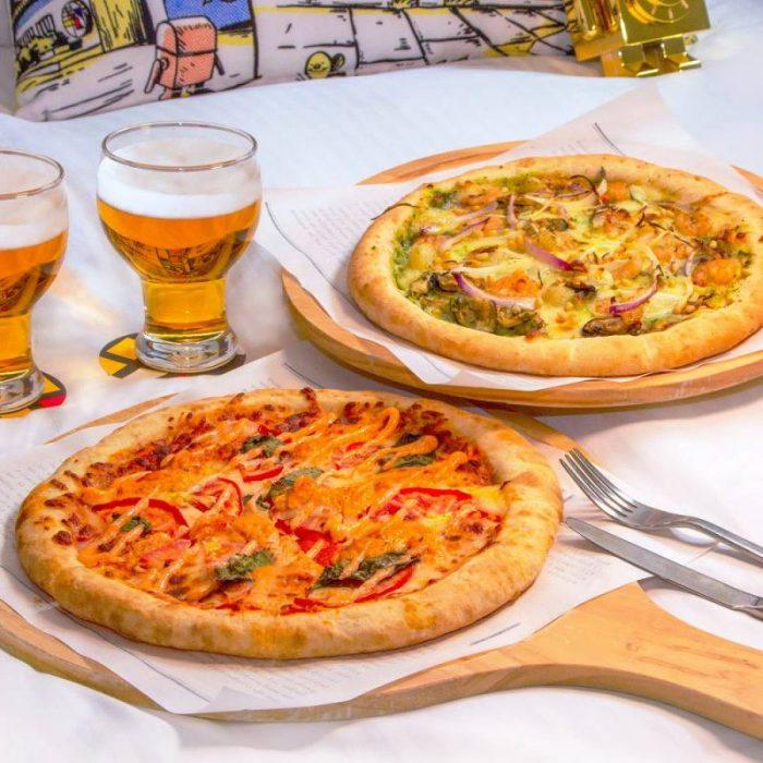 天成文旅-華山町WFH客房餐飲住房專案 精緻客房含早1,999元 住好住滿24小時再贈披薩組合餐